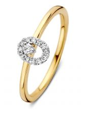 Excellent Jewelry RG417001 14 karaat gouden ring met 0,11 ct diamant
