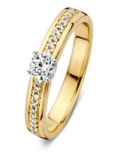 Excellent Jewelry RG417019 14 karaat gouden ring met 0,30 ct diamant