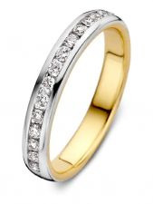 Excellent Jewelry RG417063 14 karaat bicolor gouden ring met 0,32 ct diamant