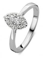 Excellent Jewelry RK217092 14 karaat witgouden ring met 0,34 ct diamant