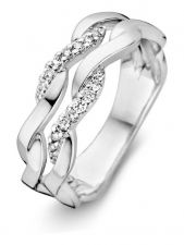 Excellent Jewelry RP216393 14 karaat witgouden ring met 0,15 ct diamant