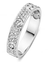 Excellent Jewelry RP216913 14 karaat witgouden ring 4,2 mm met 0,33 ct diamant