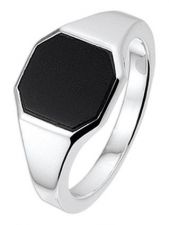 Treasure Collection TC-881592 Zilveren zegelring met onyx 10,5 mm