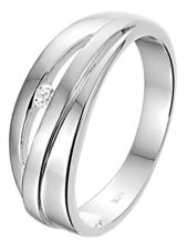 Treasure Collection TC-48889 Zilveren ring met zirkonia 7,5 mm