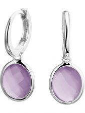 Treasure Collection TC-49532 Zilveren oorringen met amethyst 26 mm