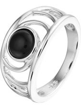 Treasure Collection L734 Zilveren ring met onyx 10,5 mm
