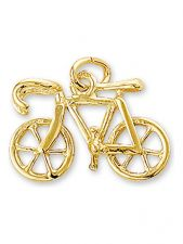 Treasure Collection TC-881380 14 karaat gouden bedel wielrenfiets