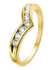 Treasure Collection TC-48783 14 karaat gouden ring met zirkonia