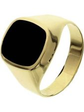 Treasure Collection TC-881597 14 karaat gouden zegelring met onyx 13 mm