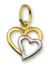 Treasure Collection TC-42899 14 karaat bi-color gouden hanger hart