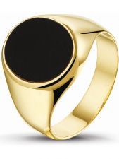 Treasure Collection TC-47769 14 karaat gouden zegelring met onyx E141