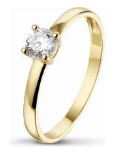 Treasure Collection TC-47811 14 karaat gouden ring met zirkonia E223