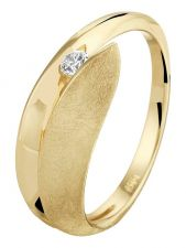 Treasure Collection L045 14 karaat gouden ring 6,5 mm met 0,07 ct diamant