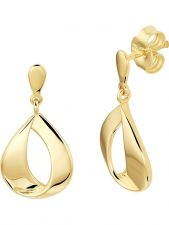 Treasure Collection L198 14 karaat gouden oorhangers 21 mm