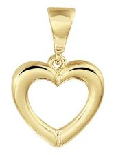 Treasure Collection TC-881806 14 karaat gouden hanger hart 10,5 mm