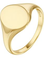Treasure Collection L521 14 karaat gouden zegelring ovaal 10 mm