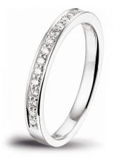 Treasure Collection TC-47847 14 karaat witgouden ring met 0,25 ct diamant