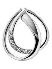 Treasure Collection TC-52594 14 karaat witgouden hanger met 0,03 ct diamant