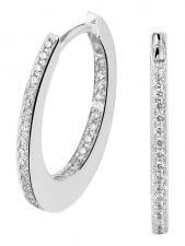Treasure Collection TC-881751 14 karaat witgouden klapcreolen met 0,24 ct diamant