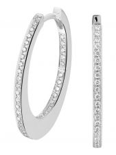 Treasure Collection TC-881752 14 karaat witgouden klapcreolen met 0,28 ct diamant