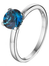 Treasure Collection TC-50609 14 karaat witgouden ring met topaas 7 mm