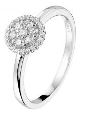 Treasure Collection TC-52176 14 karaat witgouden ring met 0,25 ct diamant K033