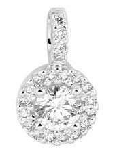 Treasure Collection L061 14 karaat witgouden hanger 10,5 mm met 0,24 ct diamant