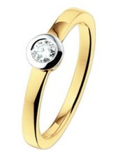 Treasure Collection TC-50505 14 karaat gouden ring met 0,15 ct diamant