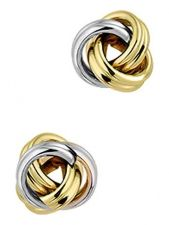 Treasure Collection TC-52149 14 karaat bicolor gouden oorknopjes 7,5 mm