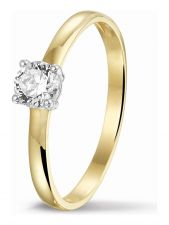 Treasure Collection TC-47918 14 karaat gouden ring met zirkonia E265