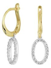 Treasure Collection TC-881826 14 karaat bicolor gouden oorhangers met zirkonia 26 mm