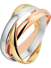 Treasure Collection TC-881852 14 karaat tricolor gouden ring 2,8 mm