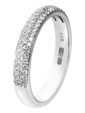 TC-43413 14 karaat witgouden ring 0,25 ct diamant