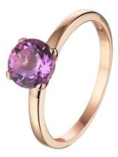 Treasure Collection TC-50721 14 karaat roségouden ring met edelsteen 7 mm