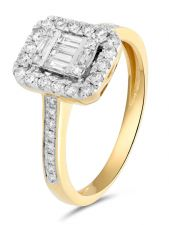 Treasure Collection TC-54772 14 karaat gouden bicolor ring met 0,40 ct diamant