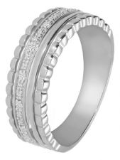 Treasure Collection TC-49236 14 karaat witgouden ring met 0,04 ct diamant