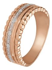 Treasure Collection TC-49233 14 karaat roségouden ring met 0,04 ct diamant